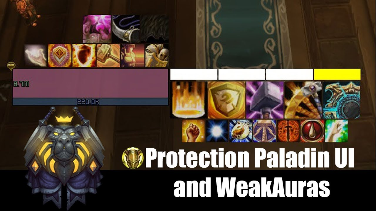 Dorkk - BFA Protection Paladin UI with WA/Elvui (8 0 1)