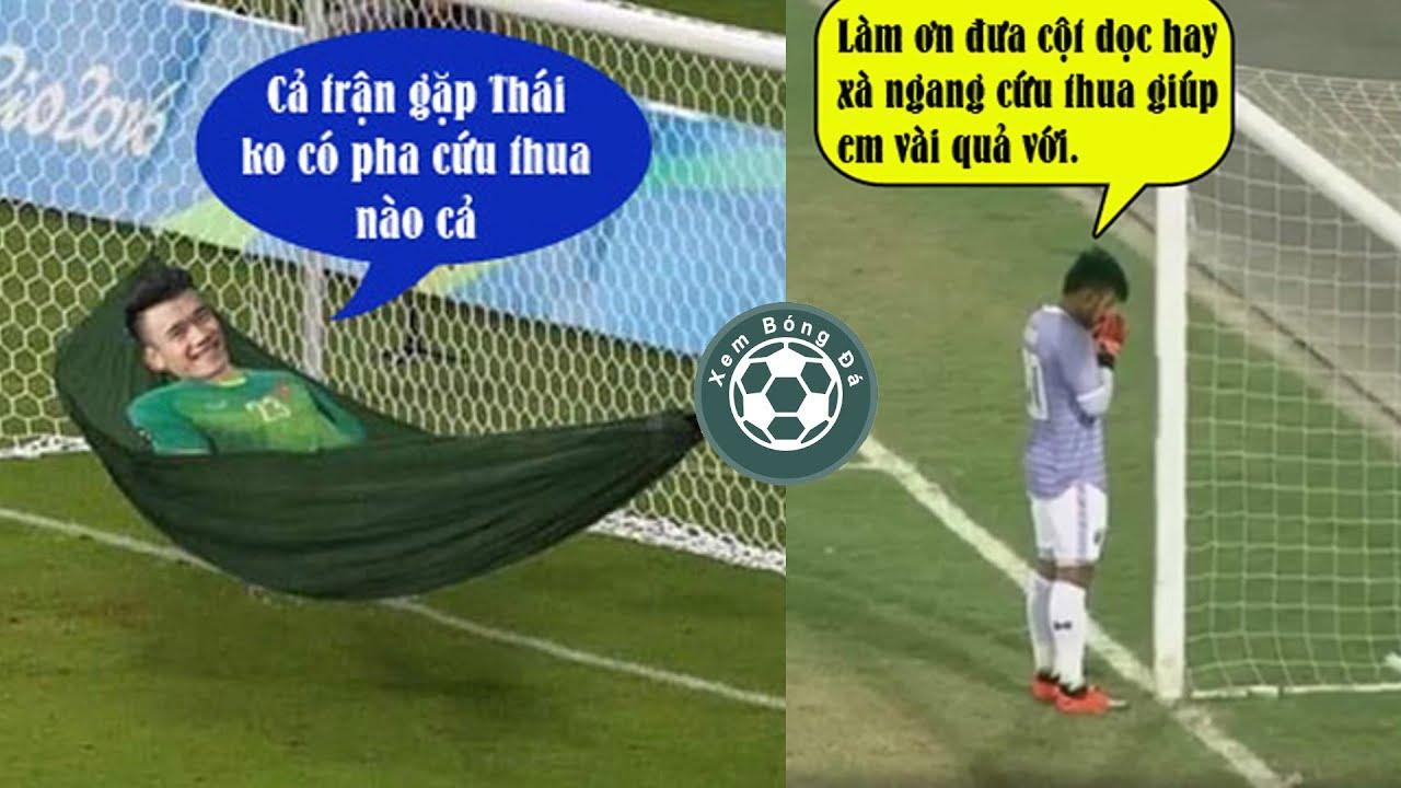 """Chế bóng đá hài hước: Thủ môn Bùi Tiến Dũng tiếp tục """"mất tích"""" trong trận thắng Thái Lan"""