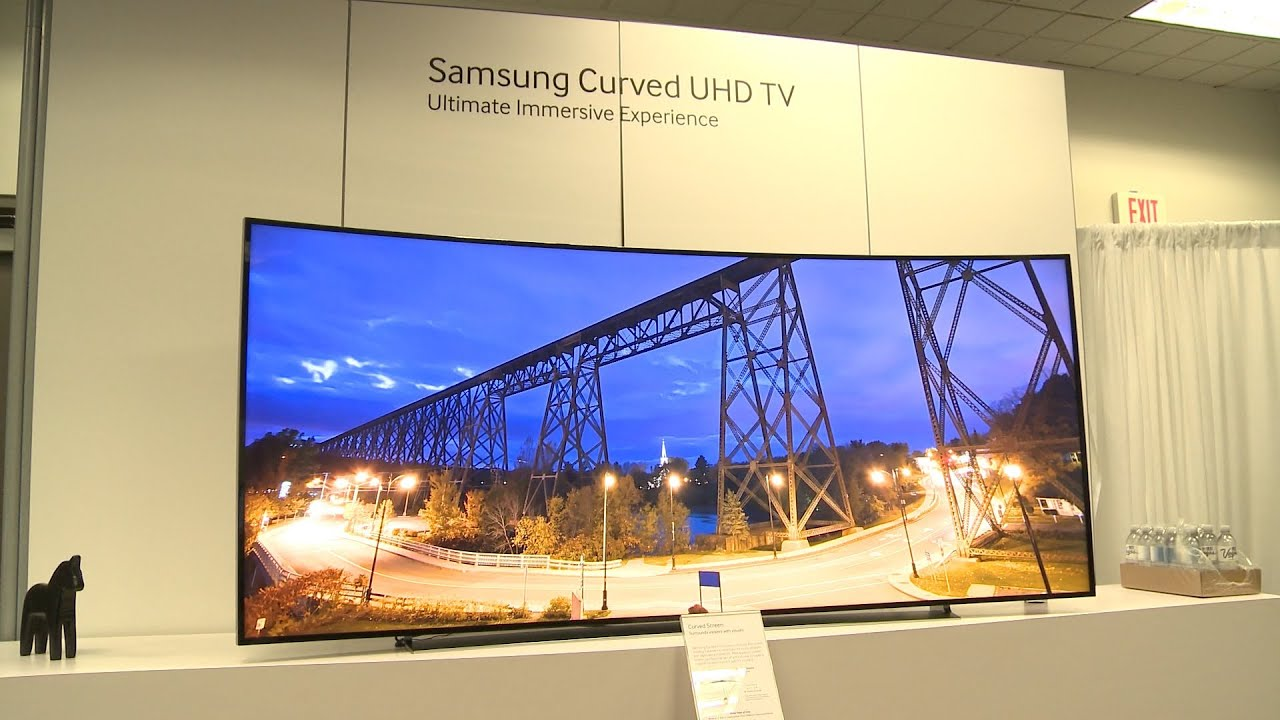 samsung ces 2014 curved 105in 4k uhd tv and more youtube. Black Bedroom Furniture Sets. Home Design Ideas