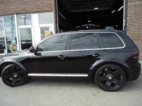 Touareg On 22 Xd Rockstar Wheels Done By Factory Tire Rubber 416 744 1414 You