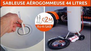 Démonstration utilisation Sableuse aérogommeuse 44 litres avec détendeur