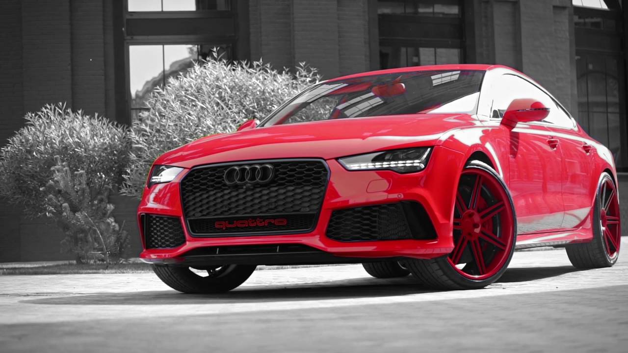 Red Love Girl And Car Audi Rs7 700 Hp Lowridefm