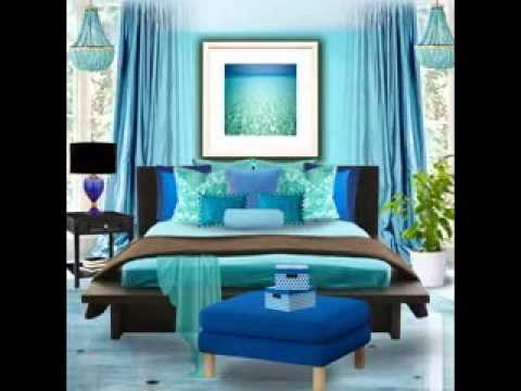Turquoise bedroom decorating ideas - YouTube
