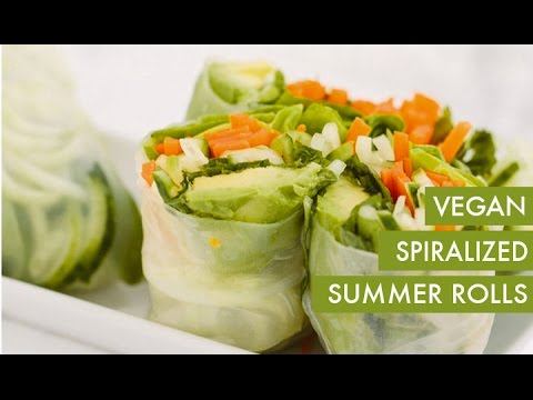 Spiralized Summer Spring Rolls I Vegan Spiralizer Recipe