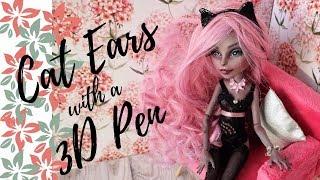 How to Make 3D Cat Ears for Dolls Easy / Monster High, Barbie, Bratz, Blythe / DIY Handmade Tutorial