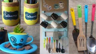 DIY decorando a cozinha gastando pouco ideias baratinhas