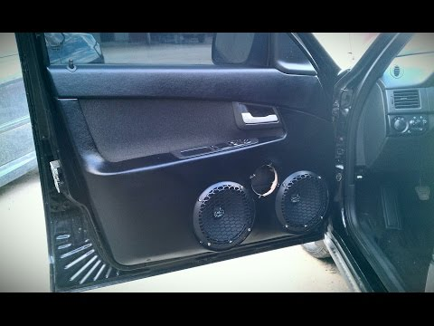 Собираем громкую аудиосистему в авто.  Часть 2.2.  Установка акустики.