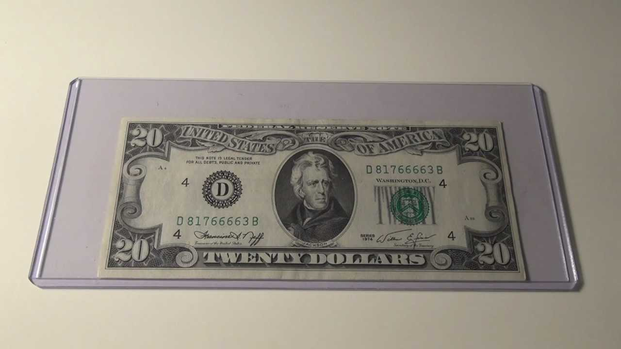 1974 $20 Federal Reserve Note