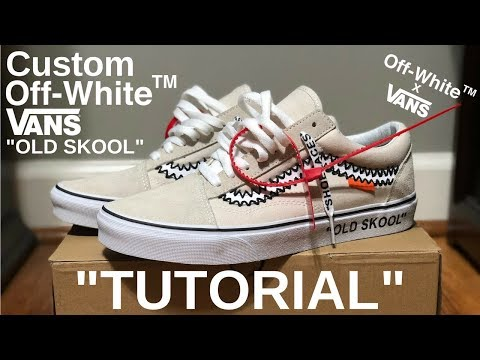 f66c2ddc06962 HOW TO: OFF WHITE VANS - YouTube