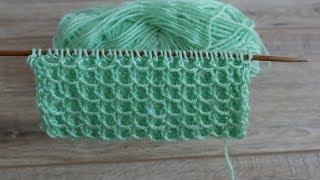 Объёмная сетка спицами | Knitting mesh