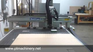 Multicam Cnc Router Cutting Dovetail Drawers With Cabinet Vision