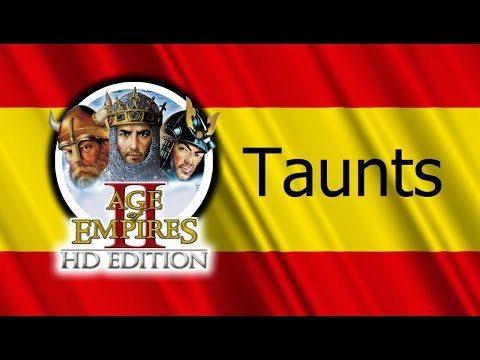 Age of Empires 2 - All Taunts (In Spanish)