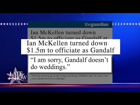 Sorry, Gandalf Doesn't Do Weddings