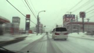 冬の国道13号 雪深き東北の旅6