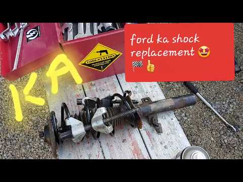 FORD KA MK1 FRONT SHOCK ABSORBER SPRING REPLACEMENT 😎🏁👍