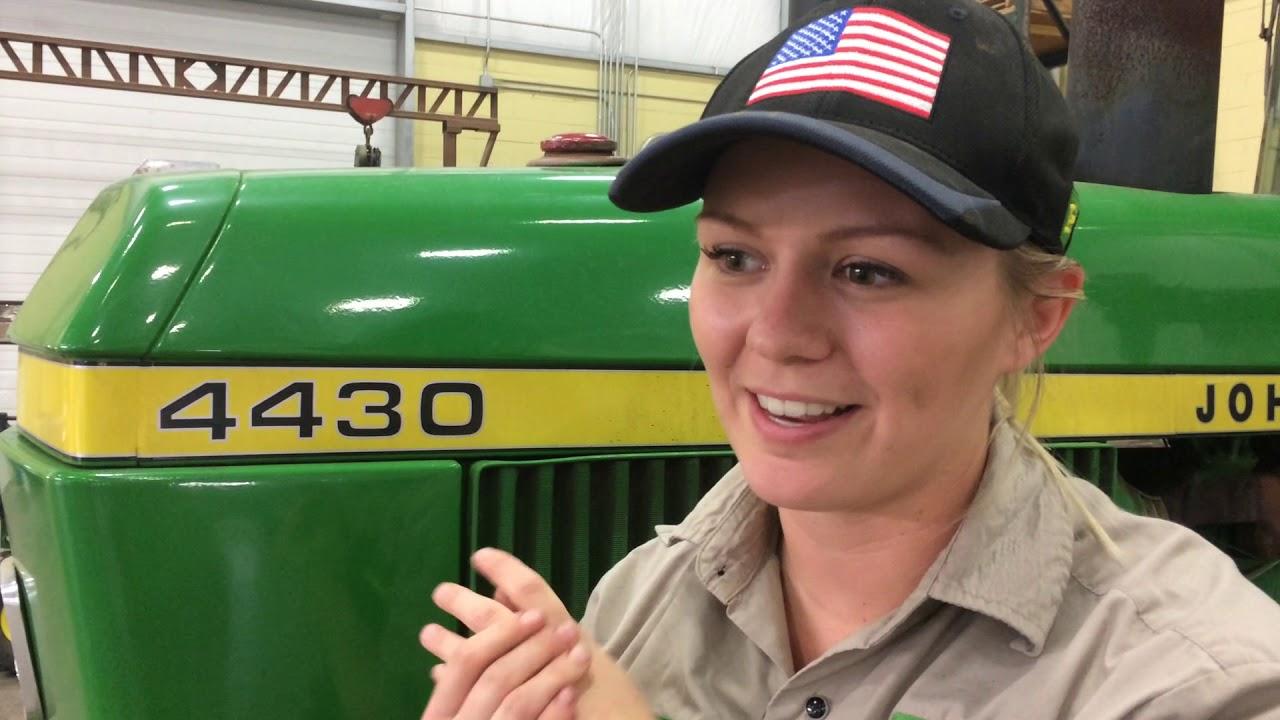 Kellie Einck, of Paullina, Iowa, talks about her national FFA award