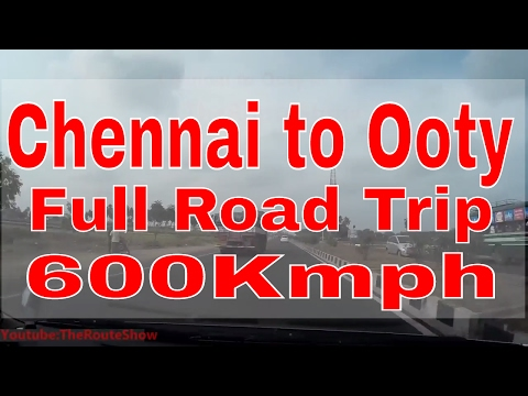 Drive from Chennai to Ooty | Full road Trip in One hour | Full HD Video