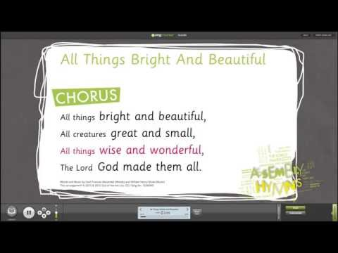 All Things Bright and Beautiful [ESSENTIALS: Assembly Hymns] - Words on Screen™ v2 Sample