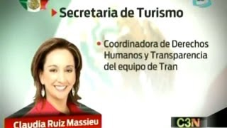 Claudia Ruiz Massieu Salinas irá a la Secretaria de Turismo