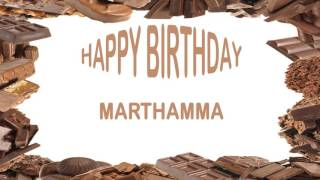 Marthamma   Birthday Postcards & Postales