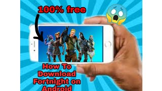 How to download fortnite on Android obb + apk + data