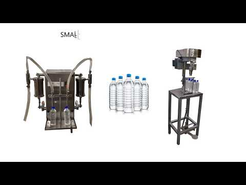 Small Scale Water Bottle Packing Machine | Water Plant | Liquid Filling Machine, Cap Sealing Machine