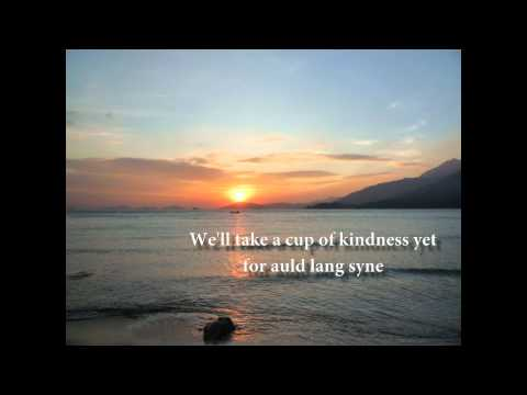 Auld Lang Syne karaoke with lyrics - electric piano and strings instrumental song