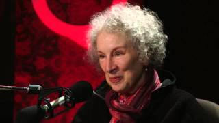 Author provocateur Margaret Atwood in Studio Q