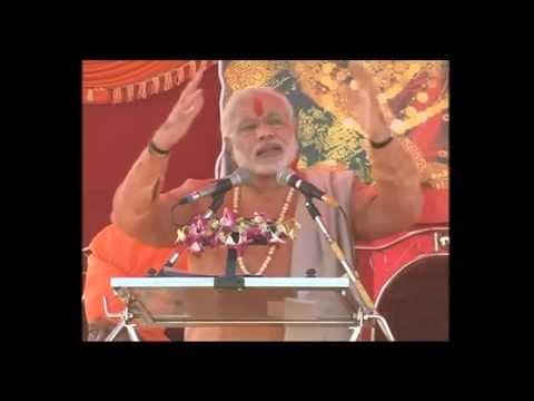Narendra Modi addressing concluding ceremony of Dharatirth Yatra at Raigad, Maharashtra