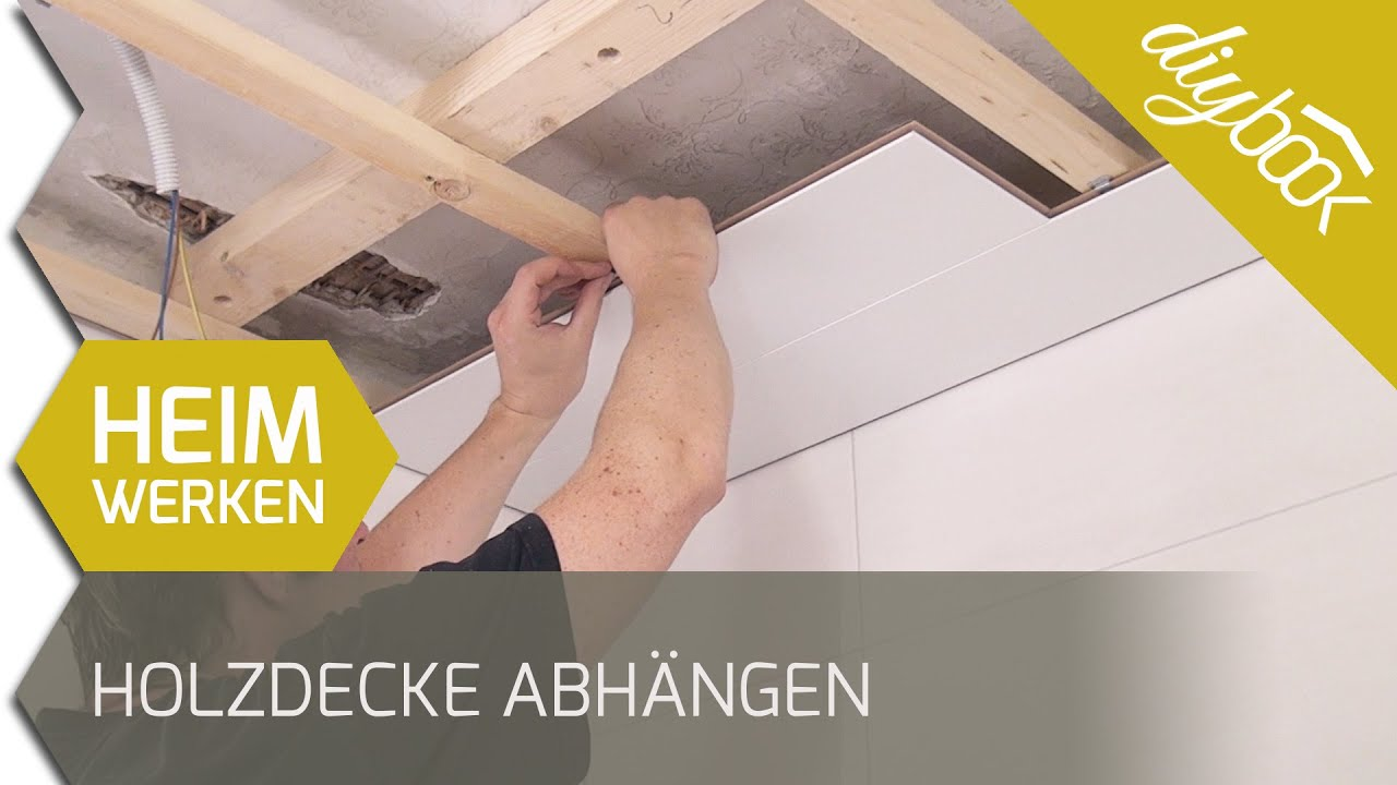 die holzdecke nut feder deckenpaneele verlegen youtube. Black Bedroom Furniture Sets. Home Design Ideas