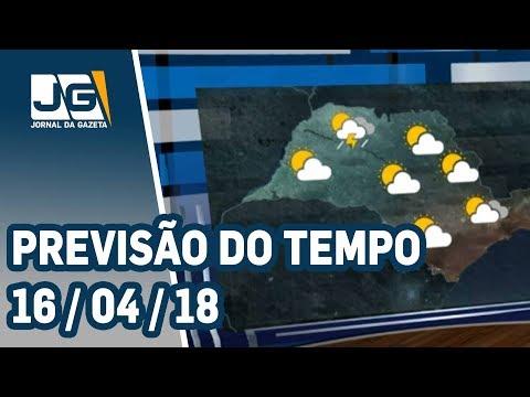 Previsão do Tempo - 16/04/2018