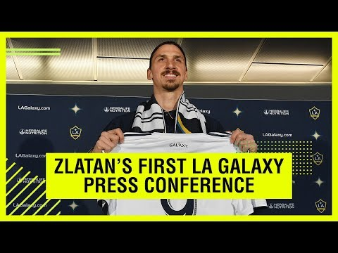 THE BEST OF ZLATAN IBRAHIMOVIC'S FIRST LA GALAXY PRESS CONFERENCE
