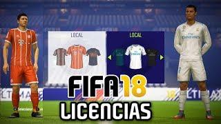FIFA 18 - TODOS LOS EQUIPOS, PAISES Y LIGAS LICENCIADAS!!!