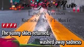 [Karaoke] Em gái mưa - Kyo York Karaoke   English véion   Tone nam