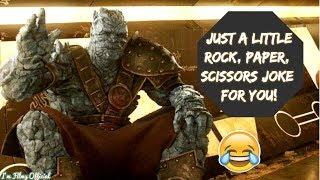 Thor: Ragnarok - All Korg Funny Scenes   Chris Hemsworth & Taika Waititi