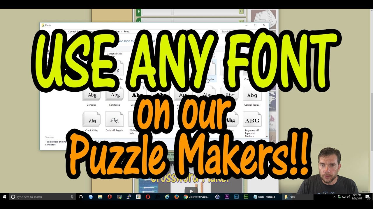 Use any font on our worksheetpuzzle makers youtube use any font on our worksheetpuzzle makers robcynllc Choice Image