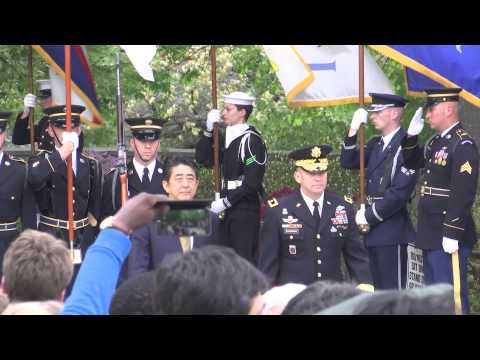 Japanese Prime Minister at Arlington National Cemetery