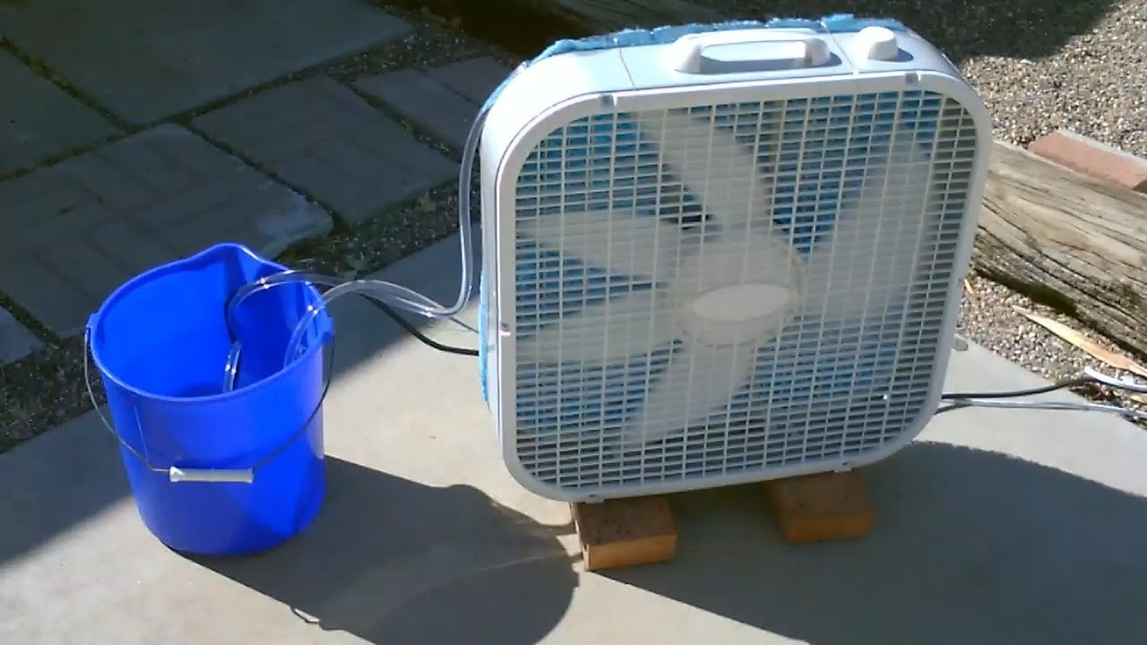 Garage Water Fan Homemade Evaporative Air Cooler Simple