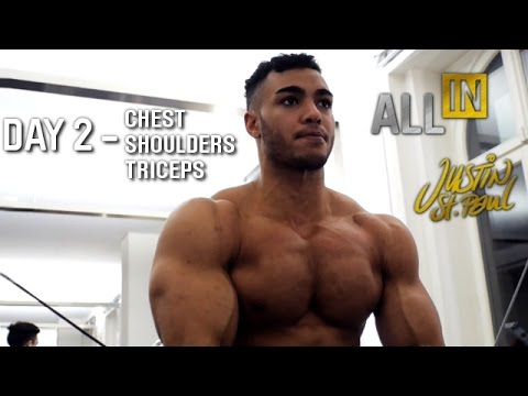 Justin St Paul - Chest Shoulders Triceps Day 2 Workout ALL IN