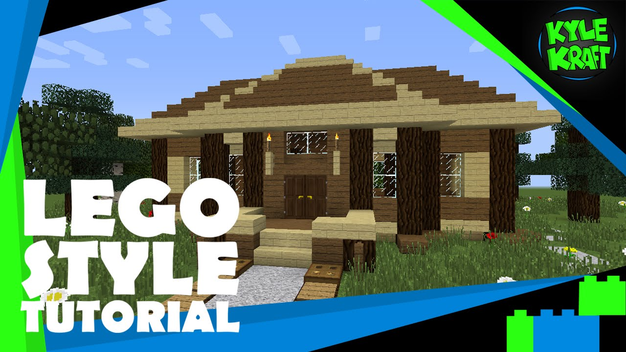 Minecraft lego style tutorial 20x20 contemporary house for 20x20 house