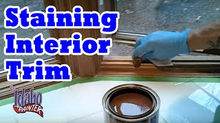 DIY Wood Stains. Staining & Clear Coating Interior Wood Trim