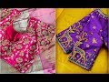 Beautiful Thread Embroidery Work Blouse Designs For Silk Sarees | Maggam Work | Aari Work | Pattern