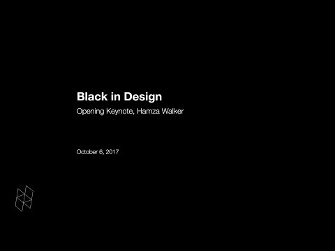 Black In Design: Opening Keynote, Hamza Walker