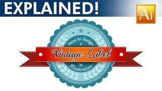 Design a Vintage Label - Adobe Illustrator Tutorial