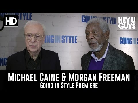Going In Style Premiere Interview - Michael Caine & Morgan Freeman