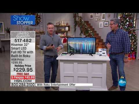 "Hisense 32"" Smart LED 1080p Full HD TV w/BuiltIn Roku"