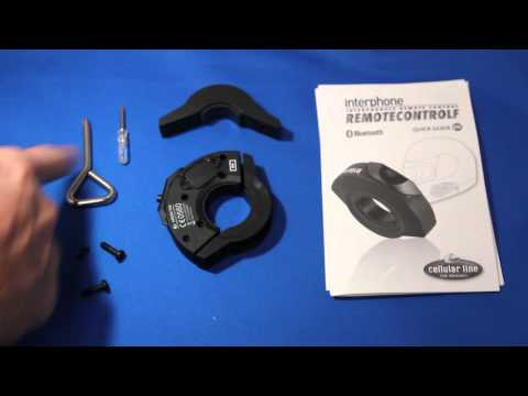 Interphone F5 Handlebar Remote: Whats included and how the Interphone REMOTECONTROLF works