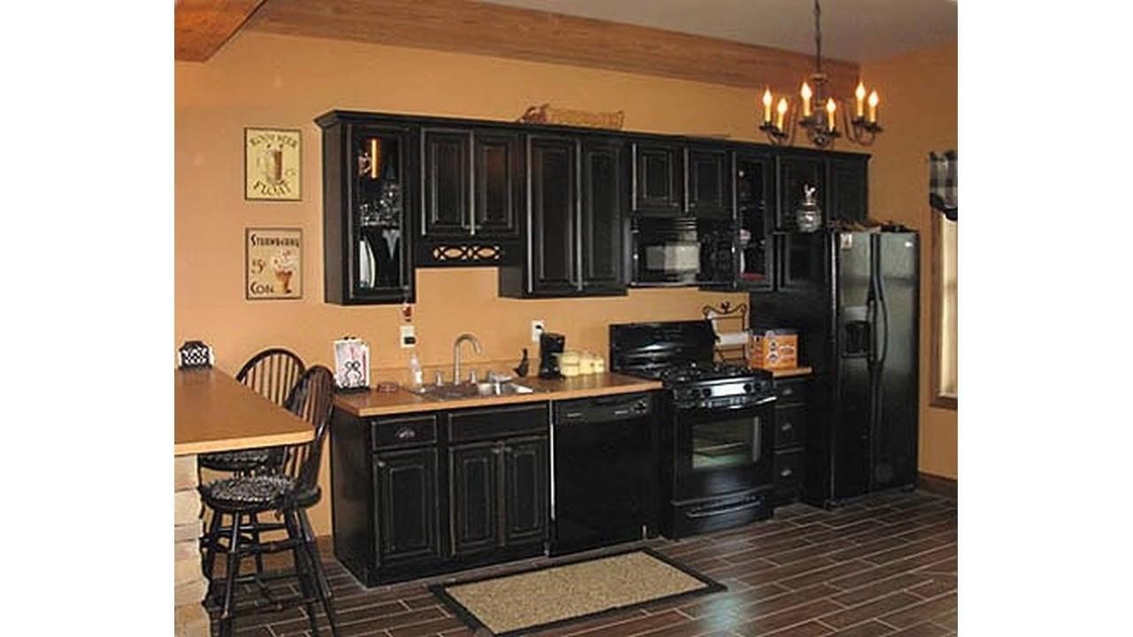 Schwarzes küchenschrank design - YouTube