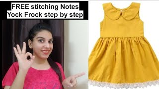 FREE stitching Notes Yock Frock step by step