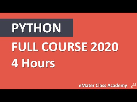 Python Tutorial for Beginners - Crash Course 2020 [FULL COURSE]